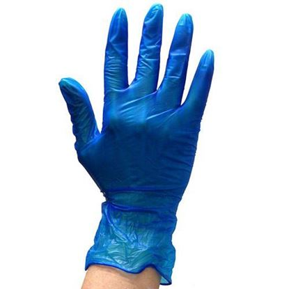 Picture of Vinyl Blue Glove Medium Powdered ( 10/100 )
