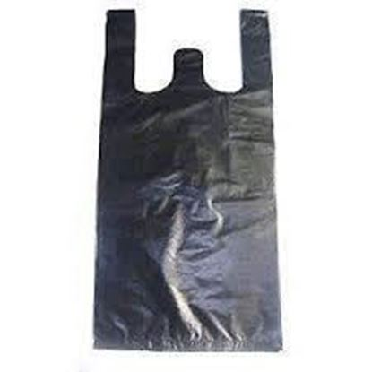 Picture of 1/10 HDPE Black Grocery Small Bags(1000)