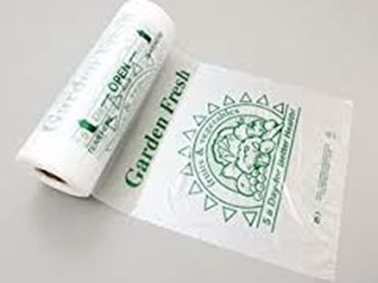 Picture of 12x20 HDPE Printed Produce Roll Bags(12Lbs)