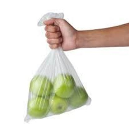 Picture of 6+3x15H LDPE Clear Poly Bags(Heavy Duty/500)