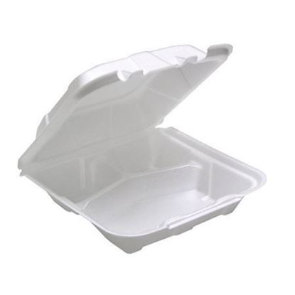 Picture of 241  Three Compartment Foam Lunch Box (8x7.5x2.75)