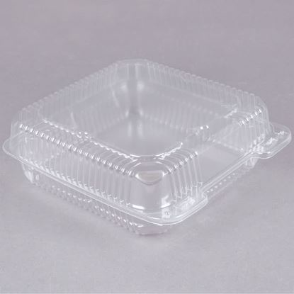 "Picture of 9"" Clear Hinged with Lid Container (2/125)"