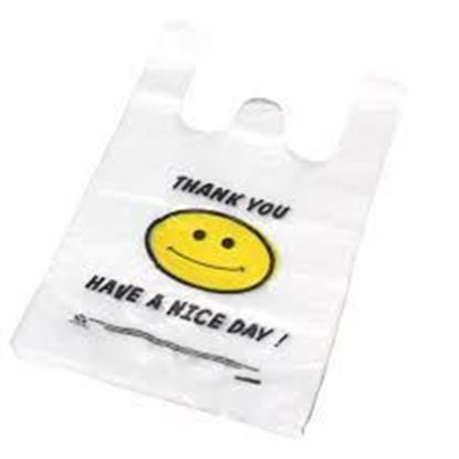Picture of 1/6 HDPE Happy Face Bags(Heavy Duty)