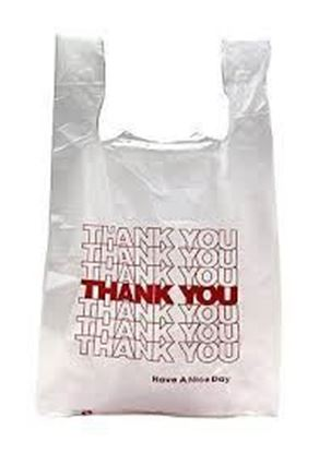 "Picture of 26"" HDPE White Thank You Grocery Bags(18Mic/400)"