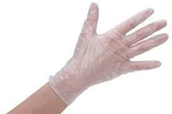 Picture of Vinyl Clear Glove Small Powdered(10/100)