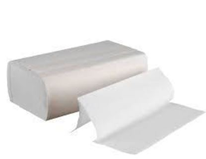 Picture of 9 1/5 x 9 2/5  C-Fold (Multi-Fold) White Hand Towel  (250x16pk/cs)