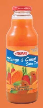 Picture of SQUARE Juice Mango & Carrot 18 fl. oz (12p/cs)