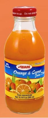 Picture of SQUARE Juice Orange & Carrot 10.14 fl. oz (15p/cs)