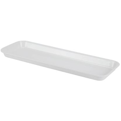 "Picture of White Market Plastic Food Tray 10""x30""x3/4"""
