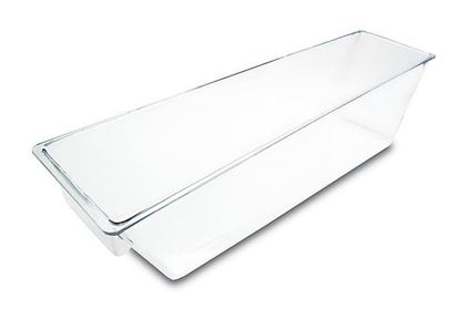 """Picture of Clear Plastic Food Bin One Compartment  27""""x8.5""""x7"""""""