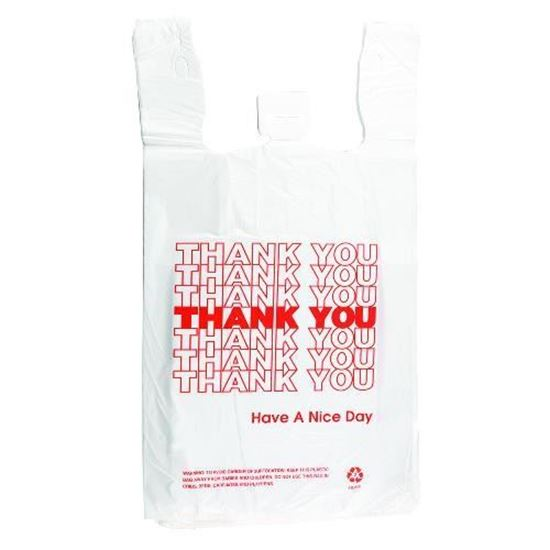 1 8 Hdpe Red Thank You Ping Bags