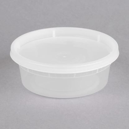 Picture of 8oz Plastic Soup container Combo Pack (240sets/cs)