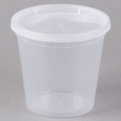Picture of 24oz Plastic Soup Container Combo Pack (240sets/cs)
